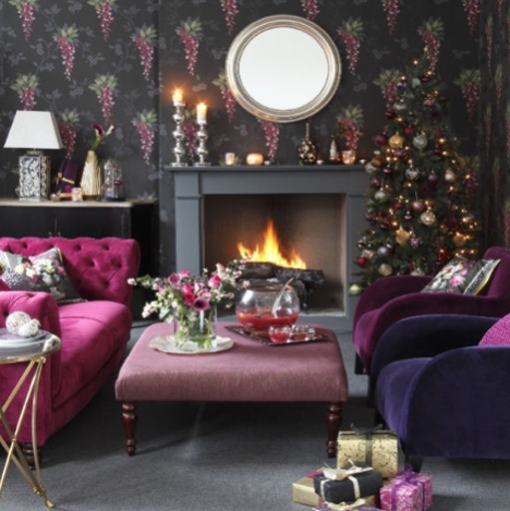 lounge at christmas