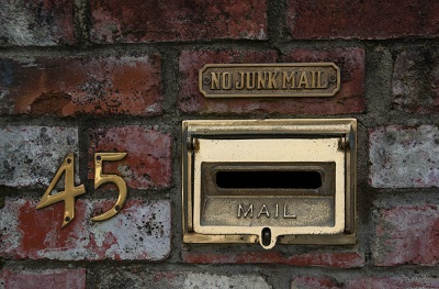 letterbox and house number